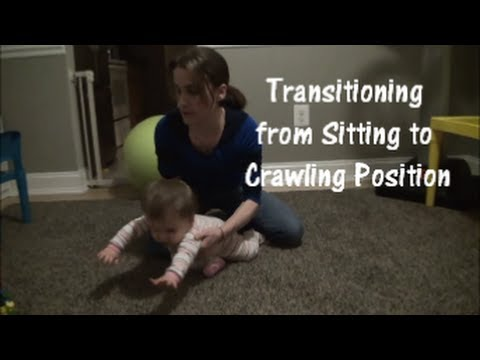Transitioning from Sitting to Crawling Position
