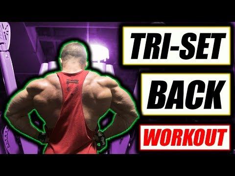 Tri-Set Back Workout 2 Get A V-Taper!