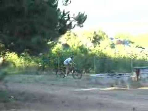 Backyard bike jump