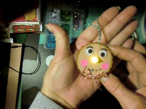 Christmas Craft Gingerbread Man Tea Light Ornament