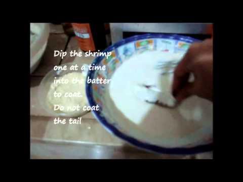 how to cook shrimp tempura (filipino style)