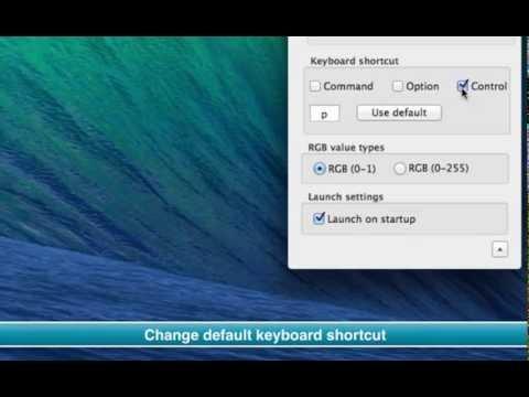Change shortcut key Color picker