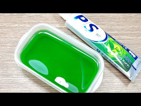 Toothpaste Clear Slime No Glue or Borax, No Glue Clear Slime with Toothpaste