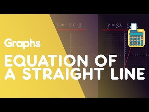 Equation of a Straight Line y=mx+c | Graphs | Maths | FuseSchool