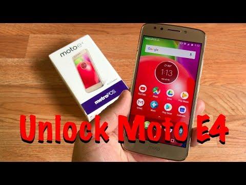 HOW TO UNLOCK MOTO E4 MetroPCS / T Mobile