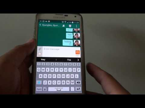 Samsung Galaxy S5: How to Send a Message to a Contact Group