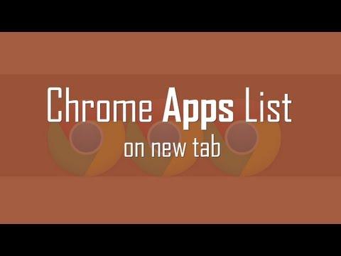 Display Chrome Apps List on new tab