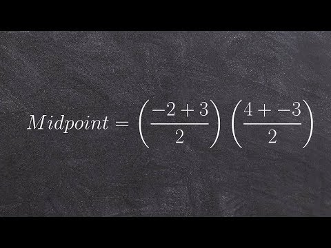 Finding the midpoint between two points