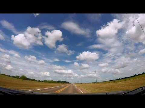 Driving 400 Miles Across Texas in 12 Minutes - A Time Drive Lapse - Zone Out Relax Reset Fall Asleep