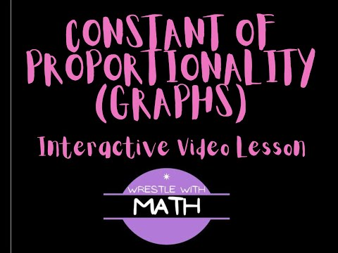 Constant of Proportionality of Graphs