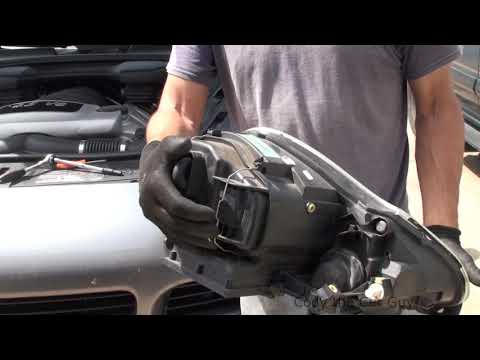 Porsche Cayenne Headlight and turn signal bulb replacement