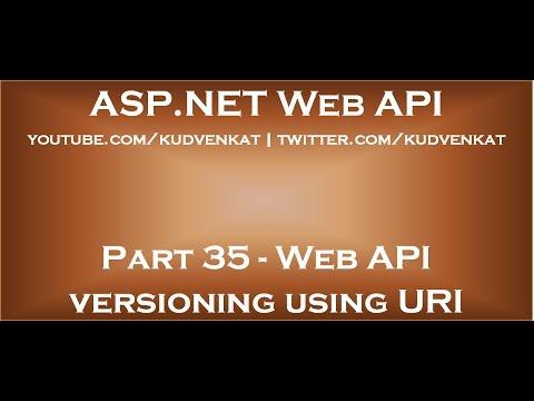 Web API versioning using URI