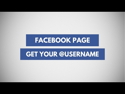 Create/Change Your Facebook Page Username