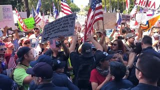 Watch CHP efforts to disperse 'Re-Open California' protesters from Capitol grounds