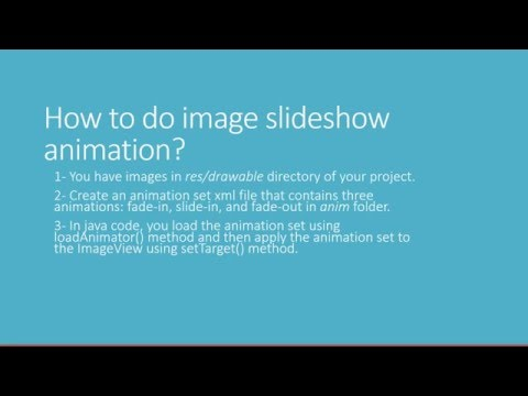android slideshow animation