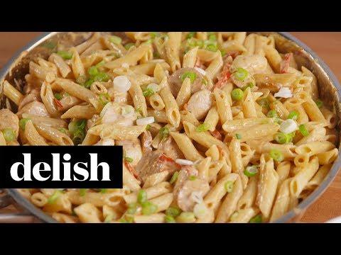 Cajun Chicken Sausage Alfredo | Delish + Ragu