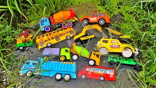 Finding Toy Vehicles from the Water Drain in the Paddy Field by PlayToyTime TV