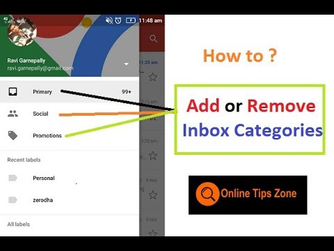 How to Add or Remove Inbox Categories in Gmail App