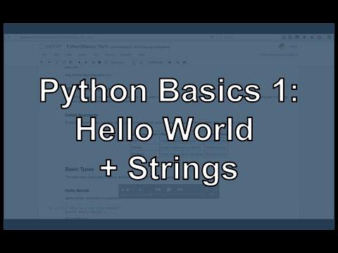 Python Hello World and String Manipulation