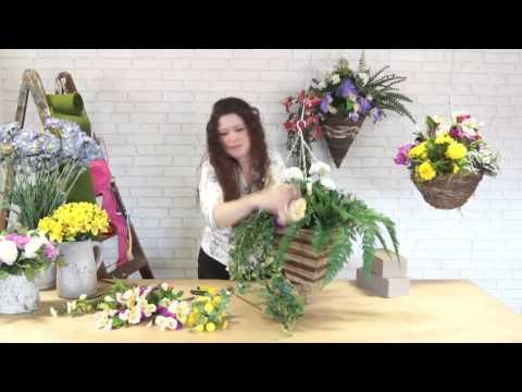 How to make a Spring Hanging Basket