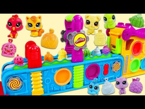 Littlest Pet Shop Friends Visit Magic Play Doh Mega Fun Factory Playset!