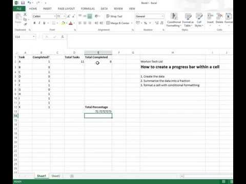 excel percentage bar in a cell using conditional formatting
