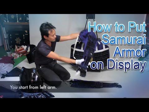 How to put Samurai Armor on display