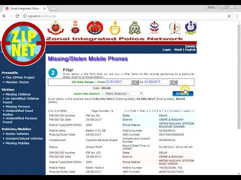 Search for Stolen or missing mobile registry before buying second hand mobile in India