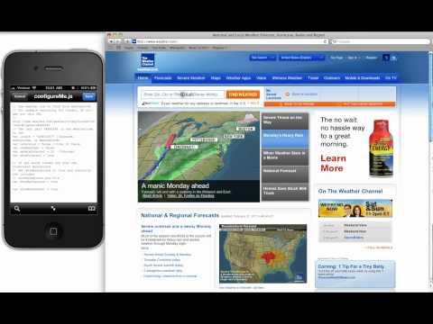 iPhone 4.2.1 - HTC Animated Weather Widget - Change Location!