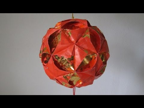 CNY TUTORIAL NO. 4 - How to make a Ornamental Hong Bao (Red Packet) Flower Ball (彩球, 花球)  )