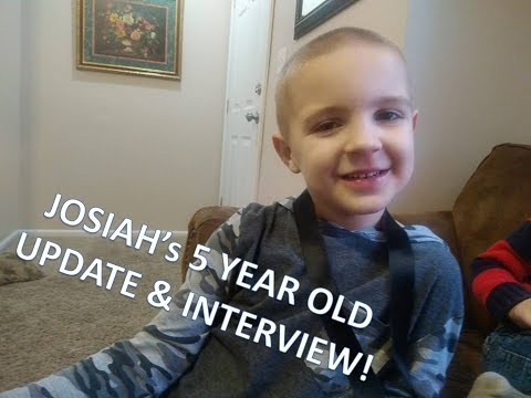 Josiah's 5 Year Old Update!