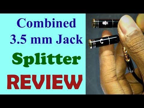 3.5mm Jack Headphone + Mic  Splitter - Review | Som Tips