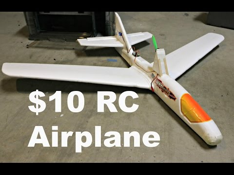 $10 Foam RC Airplane