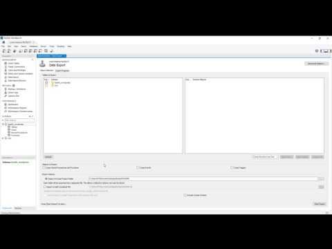 How to export mysql database with mysql workbench
