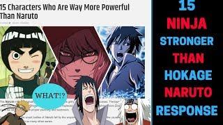 15 Characters Stronger Than Naruto The Seventh Hokage! Response!