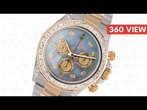 Rolex Cosmograph Daytona Stainless Steel & Yellow Gold Diamond Set MOP Dial 116523 (T4D)