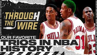 Our Favorite Trios in NBA History | Through The Wire Podcast