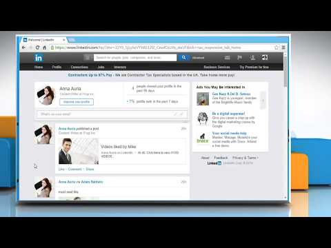 How to show or hide activity update on LinkedIn®