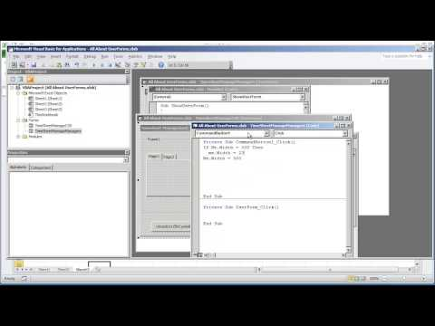 VBA Programming for Excel 2010 - V4.09 - UserForm GUI - Changing the Height and Width Properties Programtically