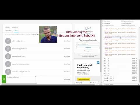 bulk invitation withdraw automation script for Linkedin