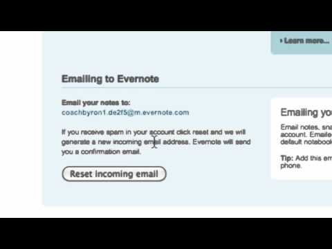 Evernote and Email, GTD hack