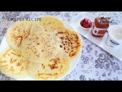 Crepes recipe, Easy And Tasty Breakfast Recipe,Egg Crepes recipe کریپس تخم یک صبحانه مزه دار