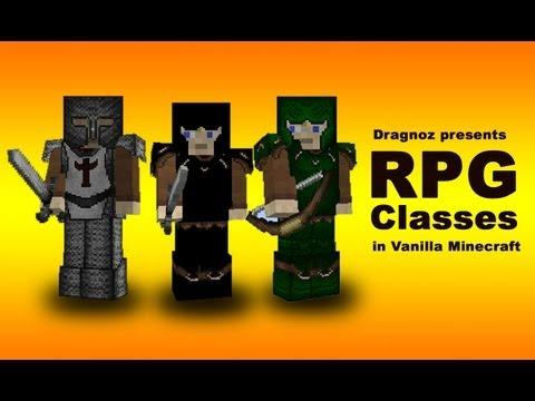 RPG classes in Vanilla Minecraft [Knight,Rogue,Ranger]
