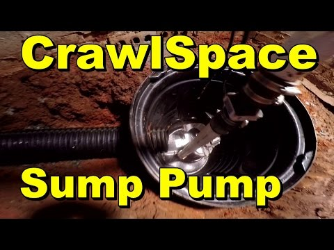 Do It Yourself  - Sump Pump Install -  Crawlspace
