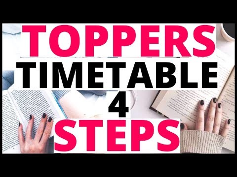How TOPPERS Make Their TIMETABLE|biology bytes|How do Toppers Study|Motivational Video in Hindi