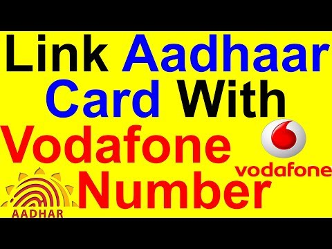 How To Link Aadhaar Card With Vodafone Number in hindi