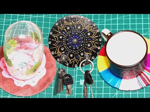 DIY Old CD's Coasters And Key Holders - DIY Crafts