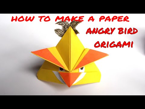 how to make a Paper angry bird easy | origami