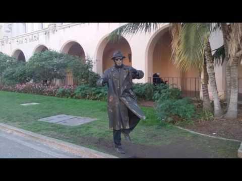Robot dancer at Balboa Park in San Diego, CA U.S.A
