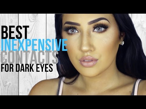 BEST INEXPENSIVE CONTACTS FOR DARK EYES! (PRETTY FABULOUZ) | Dallis Jett